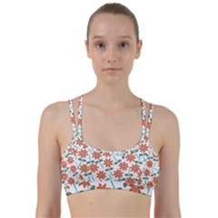 Vector Flower Floral Pattern Seamlesspattern Pink Colorful Kids Line Them Up Sports Bra
