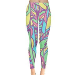 Feathers Pattern Leggings  by Sobalvarro