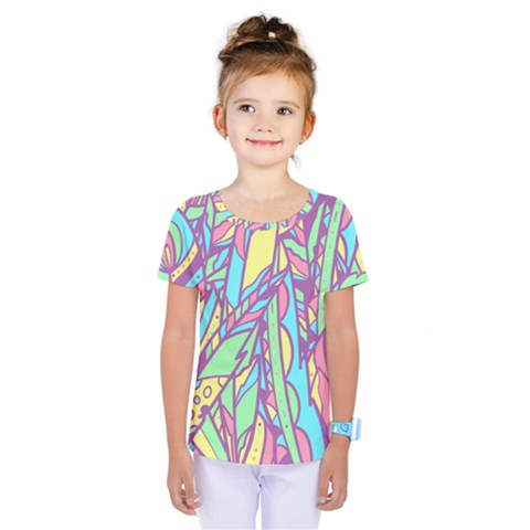 Feathers Pattern Kids  One Piece Tee by Sobalvarro