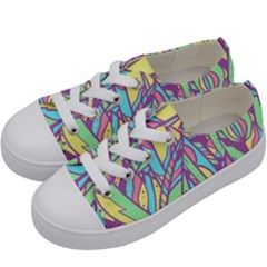 Feathers Pattern Kids  Low Top Canvas Sneakers by Sobalvarro