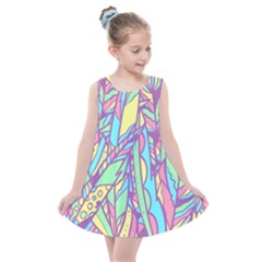 Feathers Pattern Kids  Summer Dress by Sobalvarro