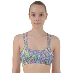 Feathers Pattern Line Them Up Sports Bra by Sobalvarro
