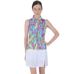 Feathers Pattern Women's Sleeveless Polo Tee by Sobalvarro