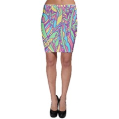 Feathers Pattern Bodycon Skirt by Sobalvarro