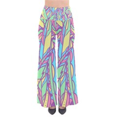 Feathers Pattern So Vintage Palazzo Pants by Sobalvarro