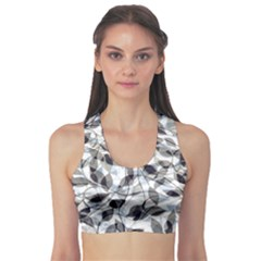 Leaves Pattern Colors Nature Design Sports Bra by Vaneshart