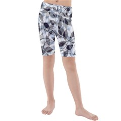 Leaves Pattern Colors Nature Design Kids  Mid Length Swim Shorts by Vaneshart