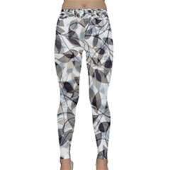 Leaves Pattern Colors Nature Design Classic Yoga Leggings by Vaneshart