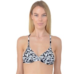 Leaves Pattern Colors Nature Design Reversible Tri Bikini Top