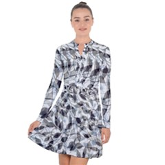 Leaves Pattern Colors Nature Design Long Sleeve Panel Dress