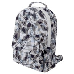 Leaves Pattern Colors Nature Design Flap Pocket Backpack (small)