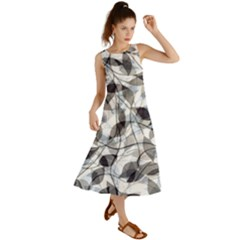 Leaves Pattern Colors Nature Design Summer Maxi Dress