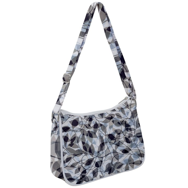 Leaves Pattern Colors Nature Design Zip Up Shoulder Bag