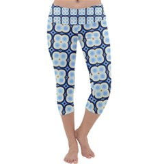Pattern Design Art Scrapbooking Geometric Cubes Capri Yoga Leggings by Vaneshart