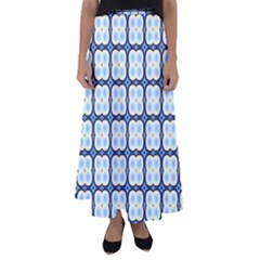 Pattern Design Art Scrapbooking Geometric Cubes Flared Maxi Skirt by Vaneshart