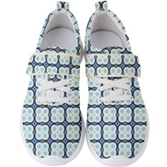 Pattern Design Art Scrapbooking Geometric Cubes Men s Velcro Strap Shoes