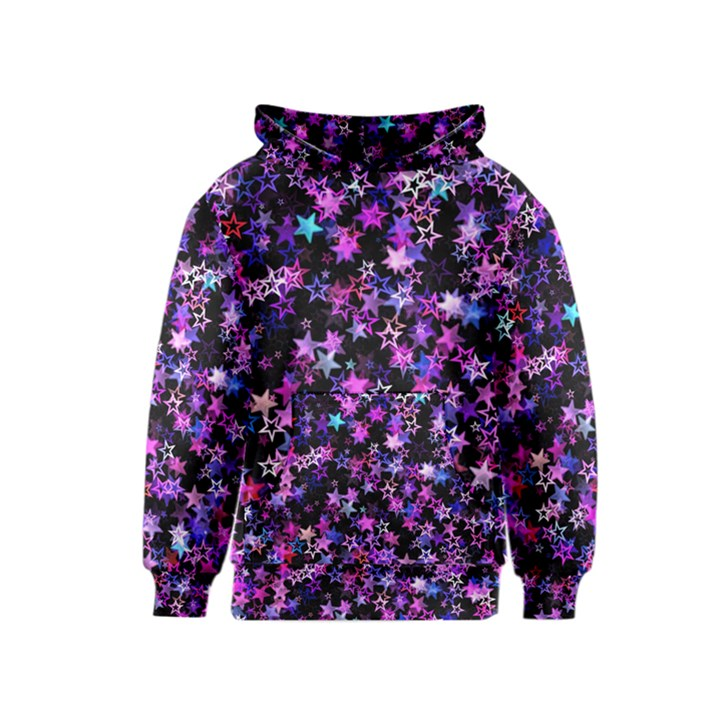 Christmas Paper Star Texture Kids  Pullover Hoodie
