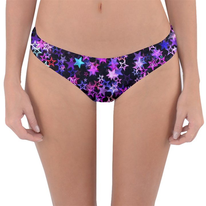 Christmas Paper Star Texture Reversible Hipster Bikini Bottoms