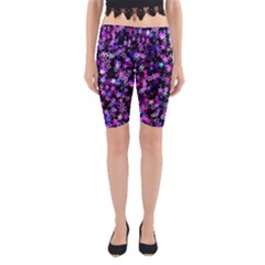 Christmas Paper Star Texture Yoga Cropped Leggings