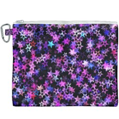 Christmas Paper Star Texture Canvas Cosmetic Bag (xxxl)