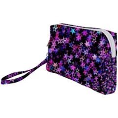 Christmas Paper Star Texture Wristlet Pouch Bag (small)
