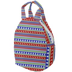 Christmas Color Stripes Pattern Travel Backpacks by Vaneshart