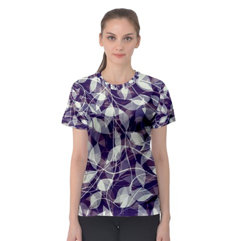 Leaves Pattern Colors Nature Design Women s Sport Mesh Tee by Vaneshart