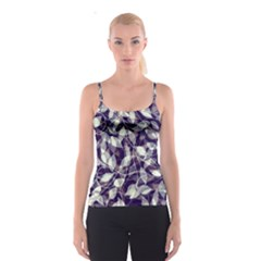 Leaves Pattern Colors Nature Design Spaghetti Strap Top