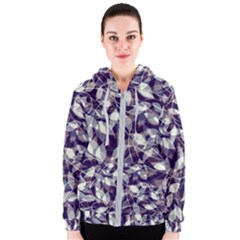 Leaves Pattern Colors Nature Design Women s Zipper Hoodie by Vaneshart
