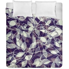 Leaves Pattern Colors Nature Design Duvet Cover Double Side (california King Size) by Vaneshart