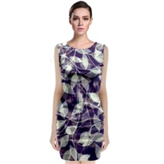 Leaves Pattern Colors Nature Design Classic Sleeveless Midi Dress by Vaneshart