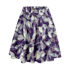 Leaves Pattern Colors Nature Design High Waist Skirt by Vaneshart