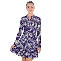 Leaves Pattern Colors Nature Design Long Sleeve Panel Dress by Vaneshart