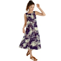 Leaves Pattern Colors Nature Design Summer Maxi Dress by Vaneshart