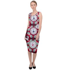 Christmas Happy Holidayw Sleeveless Pencil Dress