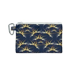Pearl Pattern Floral Design Art Digital Seamless Canvas Cosmetic Bag (small)