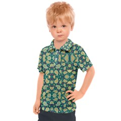 Pattern Abstract Paisley Swirls Artwork Creative Decoration Design Filigree Kids  Polo Tee