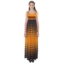 Pattern Lines Sections Yellow Straw Mauve Empire Waist Maxi Dress