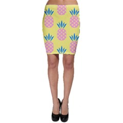 Summer Pineapple Seamless Pattern Bodycon Skirt by Sobalvarro