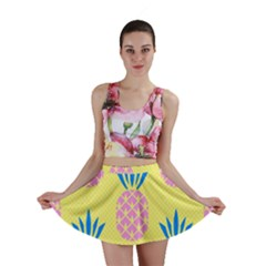 Summer Pineapple Seamless Pattern Mini Skirt by Sobalvarro