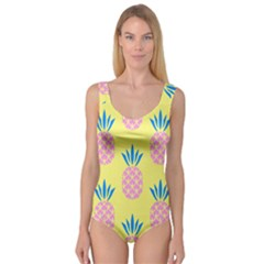 Summer Pineapple Seamless Pattern Princess Tank Leotard  by Sobalvarro
