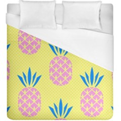 Summer Pineapple Seamless Pattern Duvet Cover (king Size) by Sobalvarro