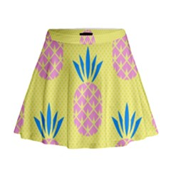 Summer Pineapple Seamless Pattern Mini Flare Skirt by Sobalvarro