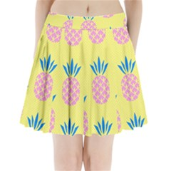 Summer Pineapple Seamless Pattern Pleated Mini Skirt by Sobalvarro