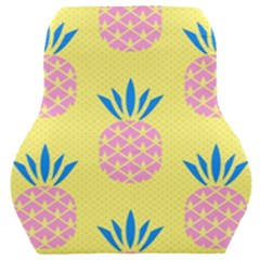 Summer Pineapple Seamless Pattern Car Seat Back Cushion  by Sobalvarro