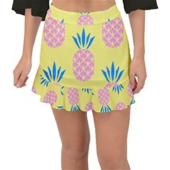 Summer Pineapple Seamless Pattern Fishtail Mini Chiffon Skirt by Sobalvarro