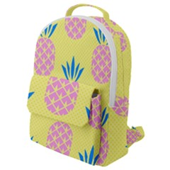 Summer Pineapple Seamless Pattern Flap Pocket Backpack (small) by Sobalvarro