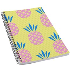 Summer Pineapple Seamless Pattern 5 5  X 8 5  Notebook by Sobalvarro