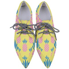 Summer Pineapple Seamless Pattern Women s Pointed Oxford Shoes by Sobalvarro