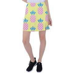 Summer Pineapple Seamless Pattern Tennis Skirt by Sobalvarro